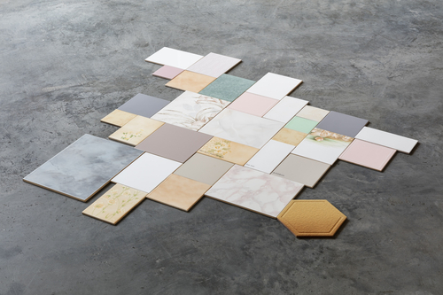 installation: ceramic tiles with various dimensions<br />Photo: CHROMA