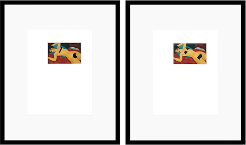 "framed pages from found art magazines<br />connaissance des arts, feb.2016, p.109<br />""nu couché, modigliani, 1917"""