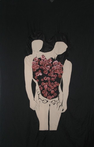 embroidery on fabric, 200x135 cm<br />